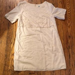 Old Navy White Embroidered Dress Size Large